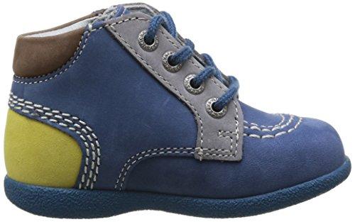 Kickers Babystan Baby Jungen Lauflernschuhe Bleu (Bleu/Citron)