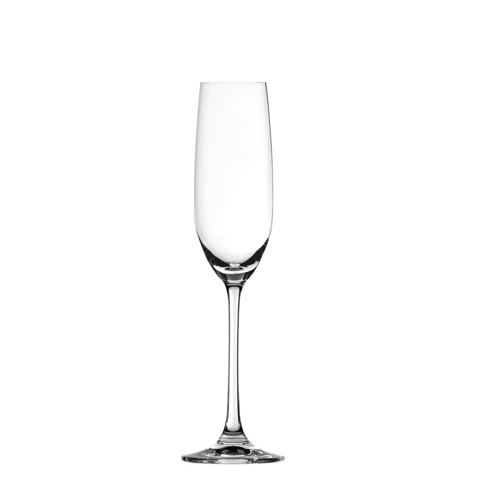 Spiegelau Salute Sparkling Wine Champagne Flute - (Clear Crystal, Set of 4)