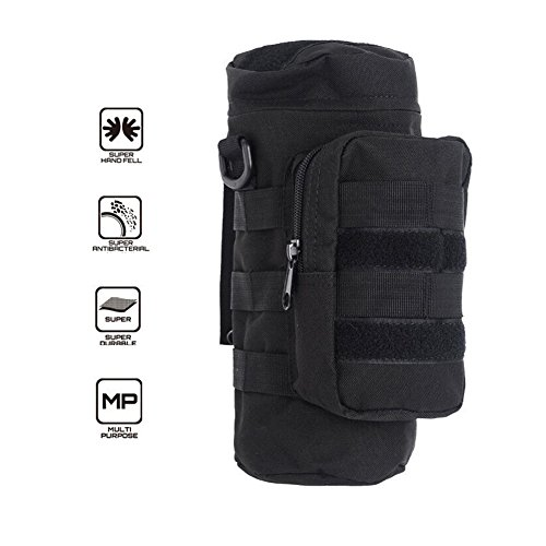 T-wilker Military Molle Water Bottle Pouch Holder Travel Kettle Gear Waist Pack for Outdoor Sports Carry Bag