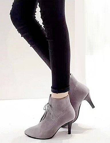 Xzz 5 Botas Comfort Cn38 Black A La us6 Uk5 Gray 5 Casual Cn36 Eu36 Moda Vestido Stiletto us7 Negro Gris De Zapatos Semicuero Mujer Uk4 Tacón Eu38 rxZXw1YrqR