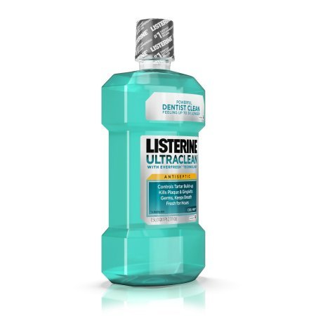 Listerine Ultraclean Antiseptic Cool Mint Mouthwash, 1.5 L (Pack of 8)