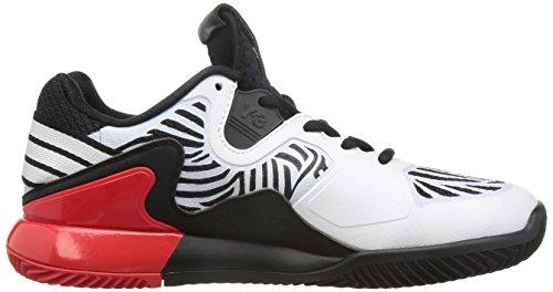 adidas Adizero Y3 2016, Zapatillas de Tenis para Hombre Negro / Blanco / Rojo (Negbas / Ftwbla / Ftwbla)