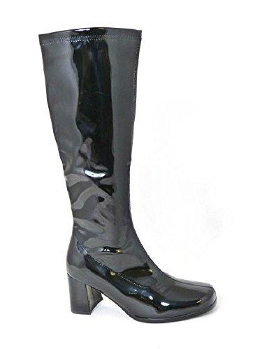 Bottes de go-go pour femme Pour déguisement années 1960/70 Style Rétro Noir x4l2G6FR