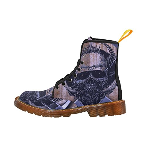 D-story Chaussures Crâne Lacent Bottes De Martin Pour Les Femmes