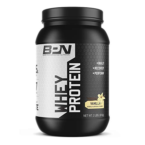 Bare Performance Nutrition, Whey Protein Powder, Meal Replacement, 25G of Protein, Excellent Taste & Low Carbohydrates, 88% Whey Protein & 12% Casein Protein (Vanilla)