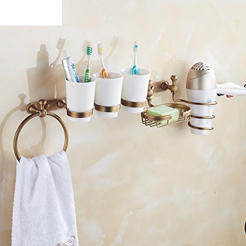 Copper antique bathroom racks/ blower shelf /Double Cup toothbrush tumbler holder/Dish SOAP network/ towel ring/clothes Hook-B