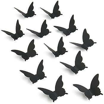 Luxbon 100Pcs 3D Cardboard Paper Butterfly Matt Effect Wall Decoration Stickers Art Crafts Decal Butterflies Home