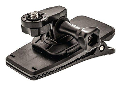 Profi 360°-Quick-Clip-Halterungsset für Action-Kameras Actioncam zb GoPro Halterung für Gürtel Rucksack Körper etc