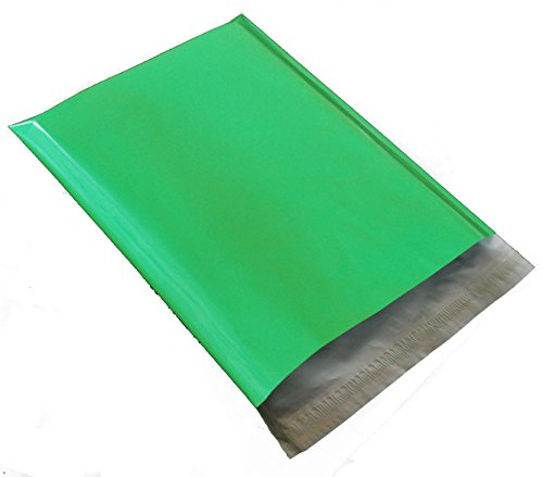 100 10X13 Green Poly Mailer Envelope - 13 Green Cut