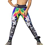 Sumen Fashion Start Print Teen Girls Yoga Pants Running Sports Pilates Legging Trouser