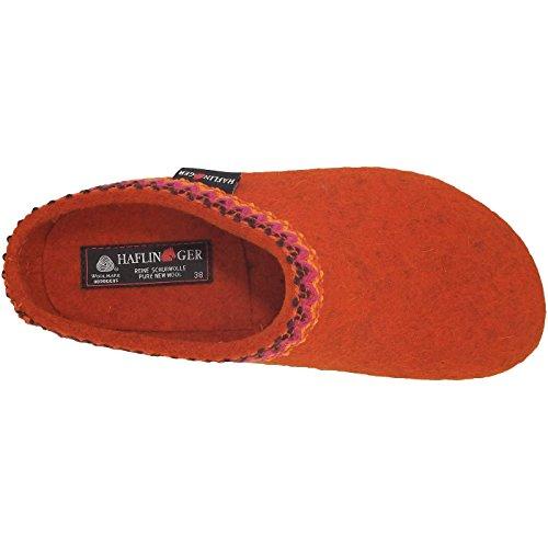 Unisex Haflinger Francisco Adulti Arancione Pantofole top Low rost aFvq5wAF
