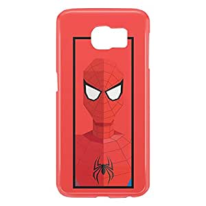 Loud Universe Samsung Galaxy S6 3D Wrap Around Spider Man Peter Parker Triangular Print Cover - Red