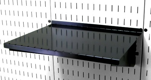 Wall Control ASM-SH-1612 B 12'' Deep Pegboard Shelf Assembly for Wall Control Pegboard Only, Black by Wall Control