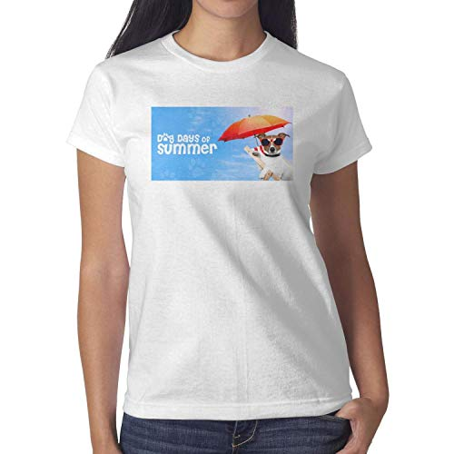 BIFSDSFS Women's Dog Day of Summer Umbrella Sunglasses Short Sleeve T Shirt Crew Neck Wholesale Shirts Funny T-Shirt Hip ()