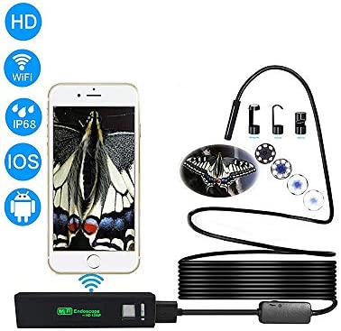 内視鏡カメラのHD 5.0メガピクセル、WiFi内視鏡内視鏡カメラ検査カメラパイプカメラボアスコープ用ios androidスマ