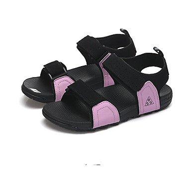 Los hombres sandalias confort par zapatos casual de resorte de goma plana negra gris morado,negro Purple