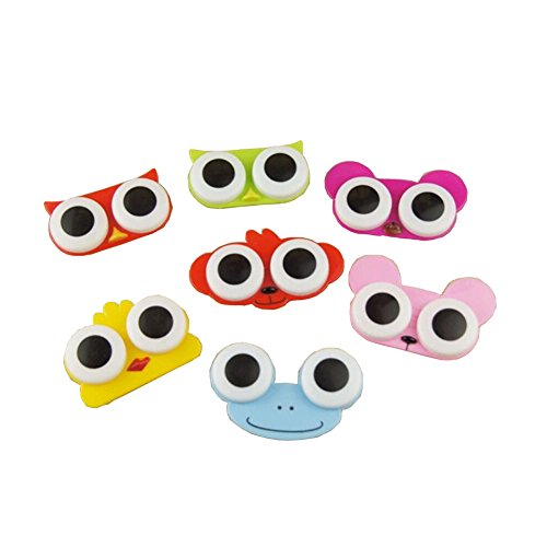 [[Set of 5] Special Cute BIG EYES Animal Contact Lenses Box Case/Holders] (Prescription Colored Contact Lenses)