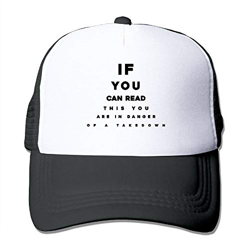 If You Can Read This You are in Danger of A Takedown Baseball Hat Mesh Trucker Hat Snapback Hat Running Cap by Alphate