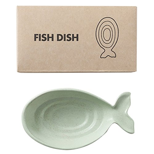 - Justdolife Sauce Dish Dipping Bowl Practical Fish Shaped Appetizer Plate Wheat Straw Dinnerware Dish