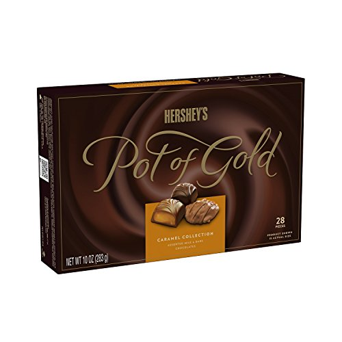 HERSHEY'S POT OF GOLD Milk and Dark Chocolate, Caramel Collection, 10 Ounce