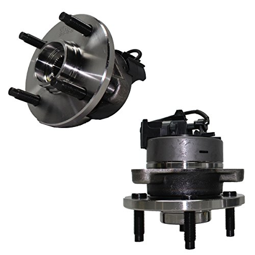 Detroit Axle - Front Wheel Hub and Bearing Assembly Pair for 4-Lug 4-Wheel ABS Models - 2005-10 Chevy Cobalt - [2007-10 Pontiac G5] - 2005-06 Pontiac Pursuit - [2003-2007 Saturn Ion]