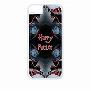 Harry Potter Kaleidescope - Hard White Plastic Snap - On Case with Soft Black Rubber Lining-Apple Iphone 5 - 5s - Great Quality!