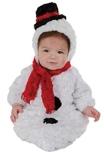 Underwraps Baby Snowman Bunting Funny Theme Fancy Dress Infant Halloween Costume, Infant (0-6M) White