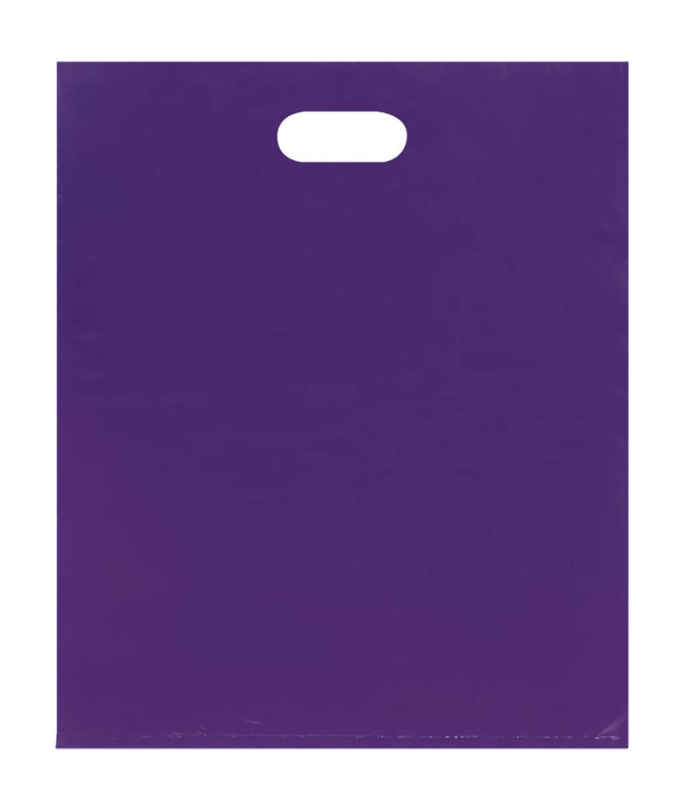 Merchandise Bags - Lightweight - Purple - (15x18) - Pack of 500