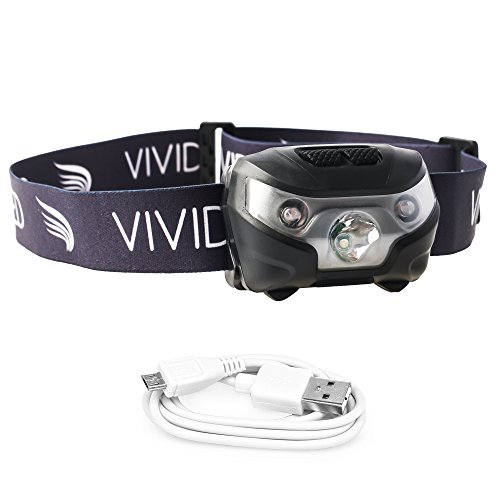 VIVIDLED Headlamp Rechargeable Waterproof Lightweight