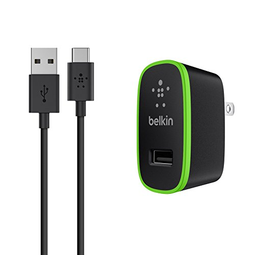 Belkin Universal Wall Charger + 6-Foot USB-C Cable (USB Type C) (2.1 Amp)