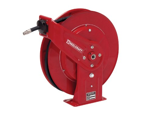 Reelcraft 7650 OHP 3/8-Inch by 50-Feet Spring Driven Hose Reel for Grease by Reelcraft