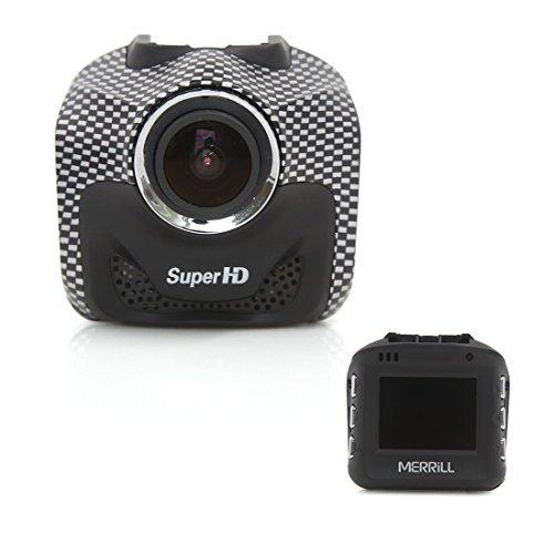 DealMux MERRILLは、Gセンサモーション検知スーパーナイトビジョンブラックとFHD 1080PのWi-Fiミニ車DVRのダッシュボードカメラレコーダーのダッシュライブチャットを認定しました B072SKWJK3