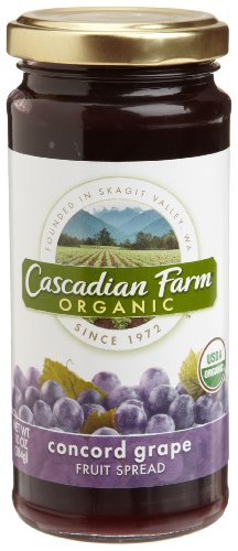 Cascadian Farm Concord Grape Spread, 10-Ounce Glass Jars  (Pack of 6) (Organic Grape Jam compare prices)