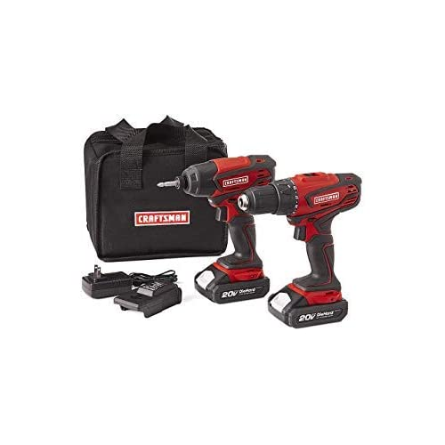 Image of Craftsman 20V MAX Cordless Drill and Impact Driver Combo Kit Home Improvements