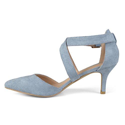 Journee Femmes Escarpins Bout Pointu Femme Bleu Faux Suède