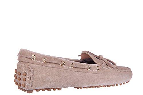 Car Shoe mocassins femme en daim beige