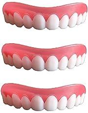 Professionele tandbeugels - bovenste witte tanden - één maat past op alle fineers, krijg die glimlach die je altijd al gewild hebt, 3 stuks