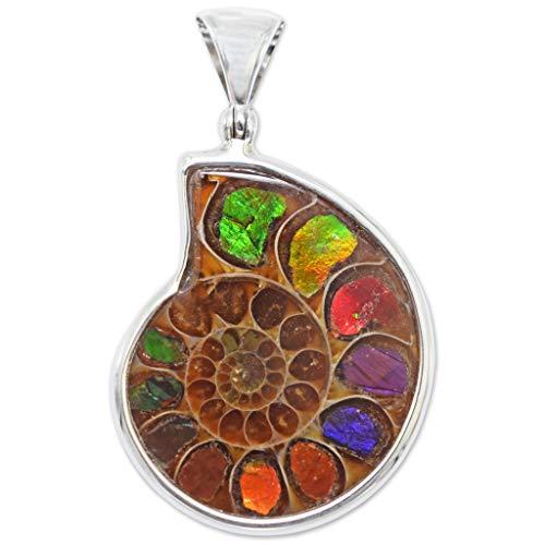 Ammonite Ammolite Inlay Pendant by Stones Desire