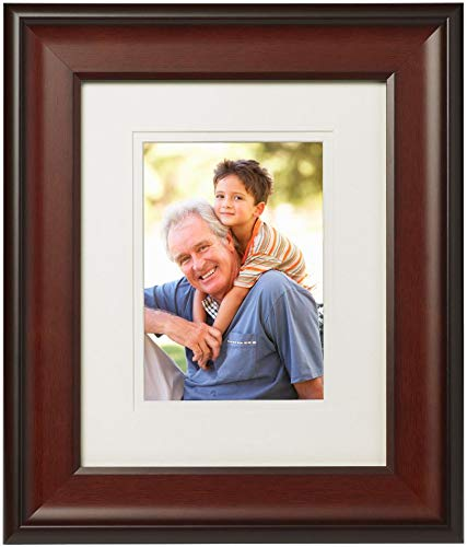 (Old Town 8x10 Walnut Concave Wood Frame, 2-Pack - New Zealand Pine and Malaysian Durian for a Gallery Ready Presentation (2, Walnut)