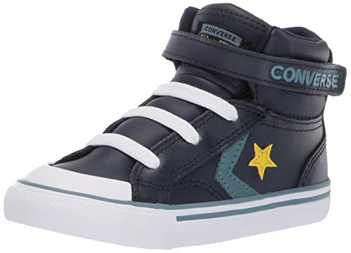 Converse Boys Infants' Pro Blaze Strap Leather High Top Sneaker, Obsidian/Celestial Teal 9 M US -