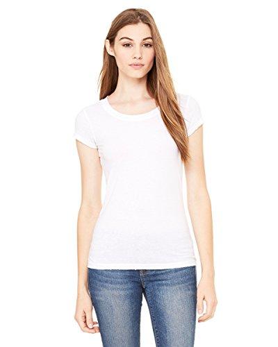 Bella Ladies Carmin Vintage Short Sleeve Scoop neck T-Shirt - Asphalt - Large