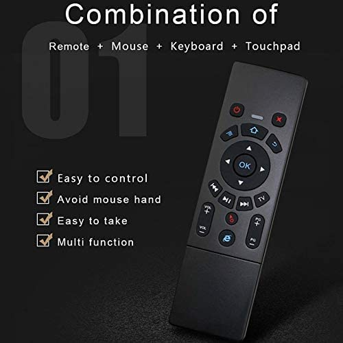 Multi-Media Devices Android TV Box//Smart TV HUFAN T6 Air Mouse 2.4GHz Wireless Keyboard Remote Controller with Touchpad /& IR Learning for PC