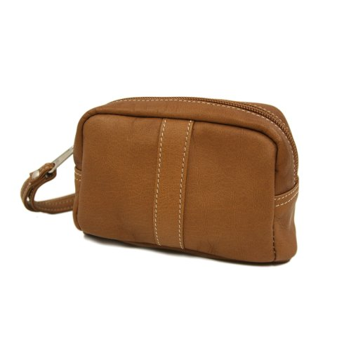 Piel Leather Cosmetic Case, Saddle, One Size
