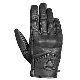 Men\'s Premium Leather Street Motorcycle Protective Cruiser Biker Gel Gloves M