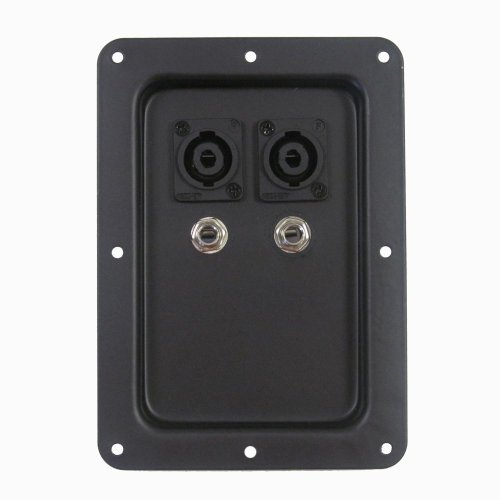 Pro Audio Jack Plate with Dual Speakon and Dual 1/4