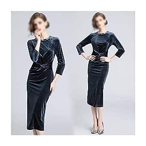 ZSRHH-Falda Vestido de Mujer Vestido Delgado de Color Puro con ...