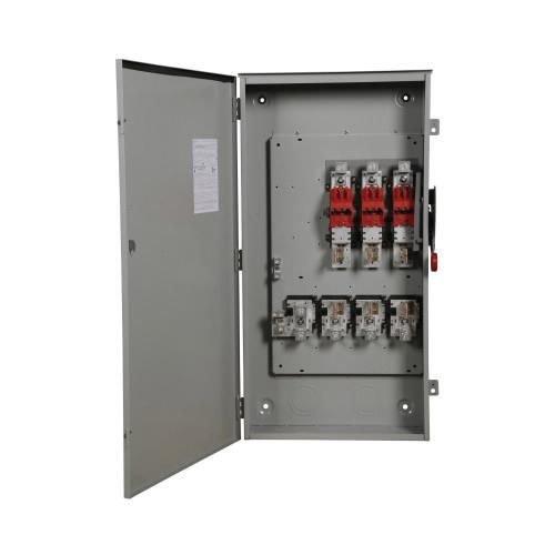 (Eaton DG325FRK 3 Wire 3 Pole Fusible K Series General-Duty Safety Switch 240 Volt AC 400 Amp NEMA 3R)