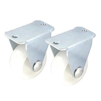eDealMax 2pcs plástico 30x14mm Para trabajos ligeros Fix Blanco ...