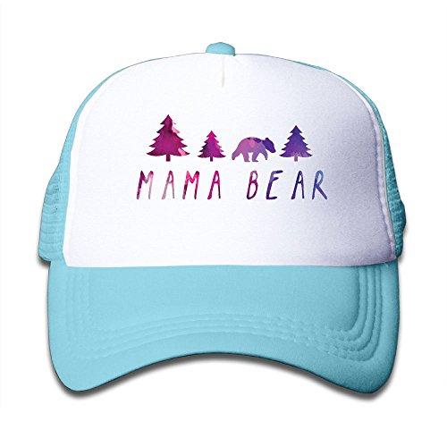 05989edcd Oiir Ooiip Mama Bear Boy-Girl Adjustable Mesh Baseball Caps Kid's ...