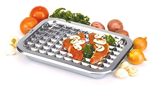 Sunnyfly 274 Broiler Pan And Roast Set 16.5 inch X 12 inch Stainless Steel